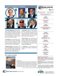 Maritime Logistics Professional Magazine, page 4,  Jul/Aug 2017