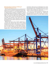 Maritime Logistics Professional Magazine, page 11,  Sep/Oct 2017