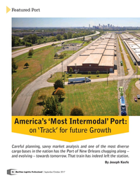 Maritime Logistics Professional Magazine, page 26,  Sep/Oct 2017