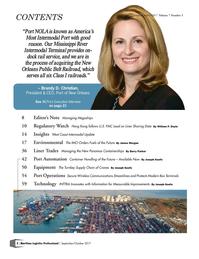 Maritime Logistics Professional Magazine, page 2,  Sep/Oct 2017