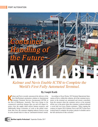 Maritime Logistics Professional Magazine, page 42,  Sep/Oct 2017