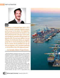 Maritime Logistics Professional Magazine, page 44,  Sep/Oct 2017