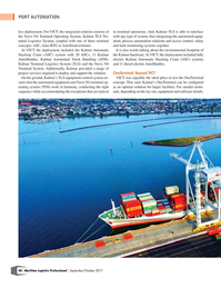 Maritime Logistics Professional Magazine, page 48,  Sep/Oct 2017