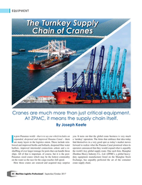 Maritime Logistics Professional Magazine, page 50,  Sep/Oct 2017
