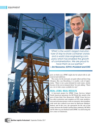 Maritime Logistics Professional Magazine, page 52,  Sep/Oct 2017