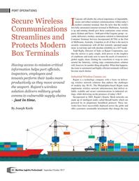 Maritime Logistics Professional Magazine, page 54,  Sep/Oct 2017