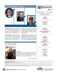 Maritime Logistics Professional Magazine, page 4,  Sep/Oct 2017