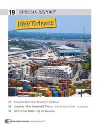 Maritime Logistics Professional Magazine, page 6,  Sep/Oct 2017