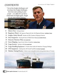 Maritime Logistics Professional Magazine, page 2,  Nov/Dec 2017