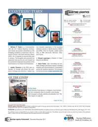 Maritime Logistics Professional Magazine, page 4,  Nov/Dec 2017