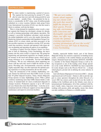 Maritime Logistics Professional Magazine, page 18,  Jan/Feb 2018
