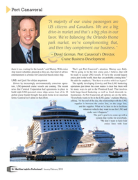 Maritime Logistics Professional Magazine, page 26,  Jan/Feb 2018