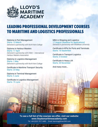 Maritime Logistics Professional Magazine, page 1,  Jan/Feb 2018