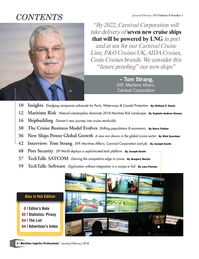 Maritime Logistics Professional Magazine, page 2,  Jan/Feb 2018