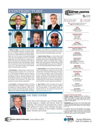 Maritime Logistics Professional Magazine, page 4,  Jan/Feb 2018