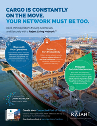 Maritime Logistics Professional Magazine, page 4th Cover,  Jan/Feb 2018