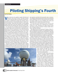 Maritime Logistics Professional Magazine, page 10,  Mar/Apr 2018