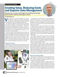 Maritime Logistics Professional Magazine, page 12,  Mar/Apr 2018