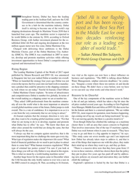 Maritime Logistics Professional Magazine, page 19,  Mar/Apr 2018