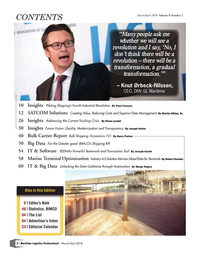 Maritime Logistics Professional Magazine, page 2,  Mar/Apr 2018