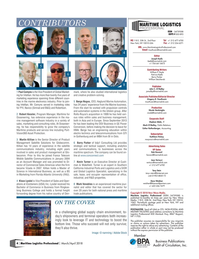 Maritime Logistics Professional Magazine, page 4,  Mar/Apr 2018