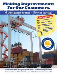 Maritime Logistics Professional Magazine, page 4th Cover,  Mar/Apr 2018