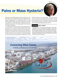 Maritime Logistics Professional Magazine, page 11,  May/Jun 2018