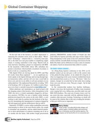 Maritime Logistics Professional Magazine, page 34,  May/Jun 2018