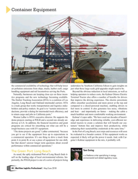 Maritime Logistics Professional Magazine, page 44,  May/Jun 2018