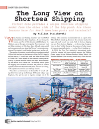 Maritime Logistics Professional Magazine, page 54,  May/Jun 2018