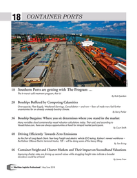 Maritime Logistics Professional Magazine, page 6,  May/Jun 2018