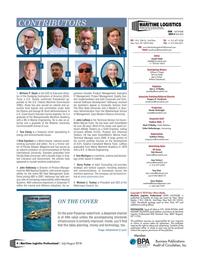 Maritime Logistics Professional Magazine, page 4,  Jul/Aug 2018