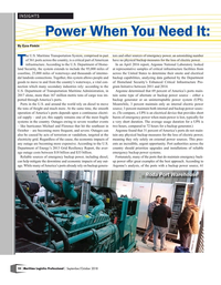 Maritime Logistics Professional Magazine, page 10,  Sep/Oct 2018