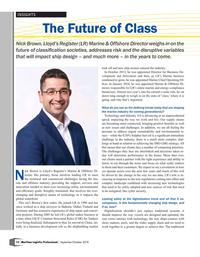 Maritime Logistics Professional Magazine, page 12,  Sep/Oct 2018