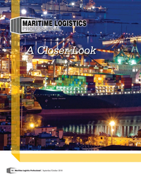 Maritime Logistics Professional Magazine, page 16,  Sep/Oct 2018