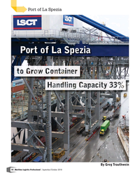Maritime Logistics Professional Magazine, page 18,  Sep/Oct 2018