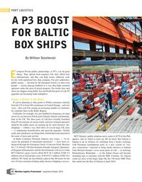 Maritime Logistics Professional Magazine, page 22,  Sep/Oct 2018