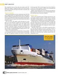 Maritime Logistics Professional Magazine, page 24,  Sep/Oct 2018
