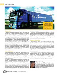 Maritime Logistics Professional Magazine, page 26,  Sep/Oct 2018