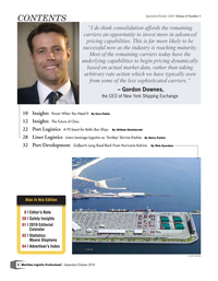 Maritime Logistics Professional Magazine, page 2,  Sep/Oct 2018