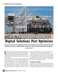 Maritime Logistics Professional Magazine, page 52,  Sep/Oct 2018