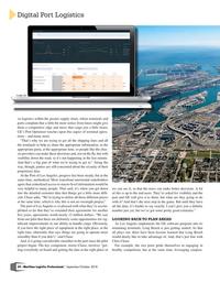 Maritime Logistics Professional Magazine, page 54,  Sep/Oct 2018