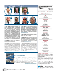 Maritime Logistics Professional Magazine, page 4,  Sep/Oct 2018