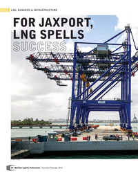 Maritime Logistics Professional Magazine, page 24,  Nov/Dec 2018