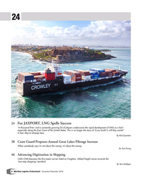 Maritime Logistics Professional Magazine, page 6,  Nov/Dec 2018