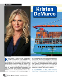 Maritime Logistics Professional Magazine, page 10,  Jan/Feb 2019