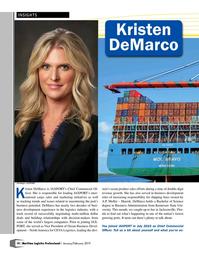 Maritime Logistics Professional Magazine, page 10,  Jan/Feb 2019