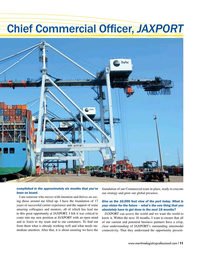 Maritime Logistics Professional Magazine, page 11,  Jan/Feb 2019