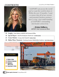 Maritime Logistics Professional Magazine, page 2,  Jan/Feb 2019