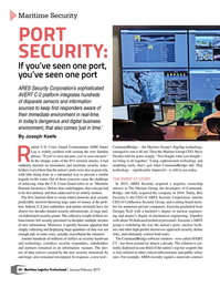 Maritime Logistics Professional Magazine, page 50,  Jan/Feb 2019